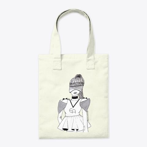 Syfy Chic Spikes  Natural Tote Bag Back