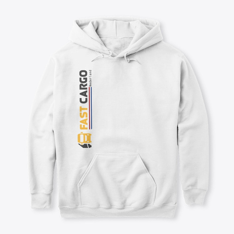 Fast Cargo Nld   Hoodie [White] White T-Shirt Front