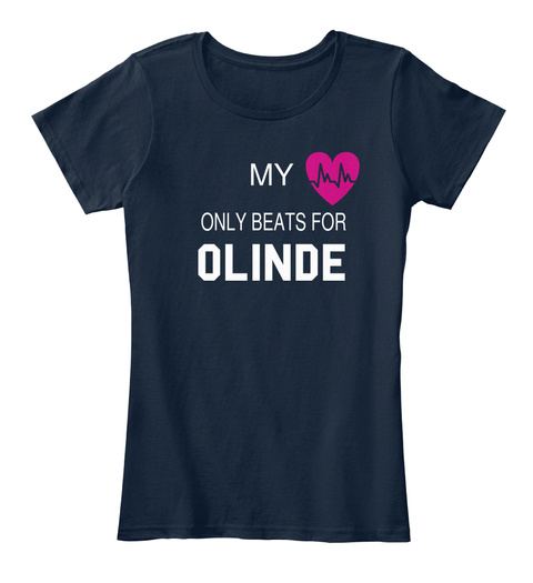 My Only Beats For Olinde New Navy T-Shirt Front