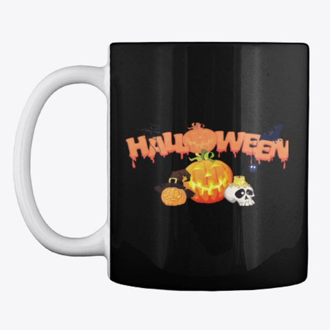 Halloween Mug Black T-Shirt Front
