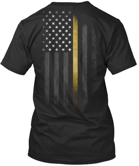 Childhood Cancer: Fight Logo Black T-Shirt Back