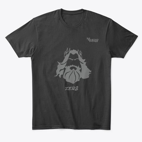 Big Bearded Badass   Zeus Black T-Shirt Front