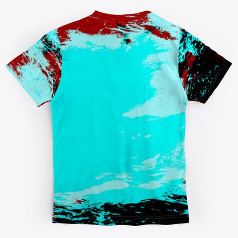 Hell Yeah   Batik Tie Dye Camouflage Art Standard T-Shirt Back