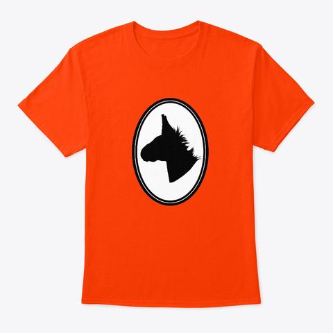 Donkey Silhouette Orange T-Shirt Front