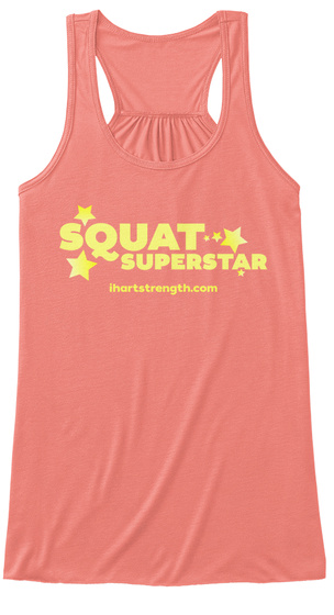 Squat Superstar Coral Women's Tank Top Front