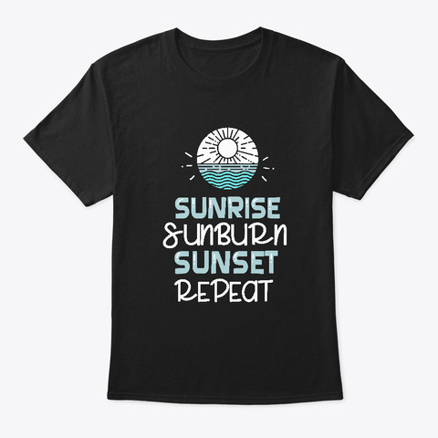 Summer Vacation Black T-Shirt Front
