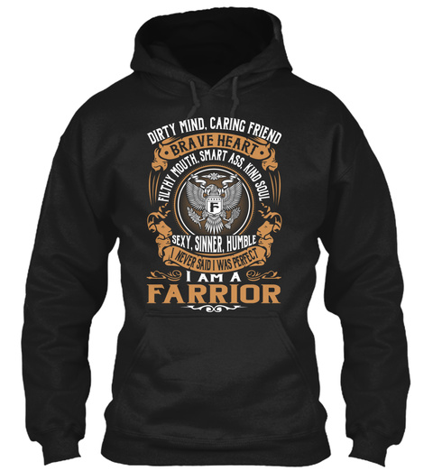 Farrior Black T-Shirt Front