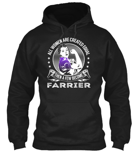 Farrier   Become Black T-Shirt Front