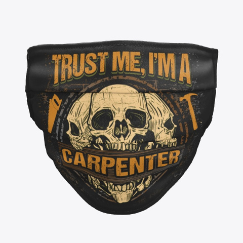 Awesome Carpenter Mask Black T-Shirt Front