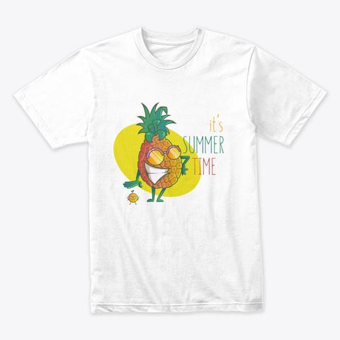 Summer Fruits White T-Shirt Front