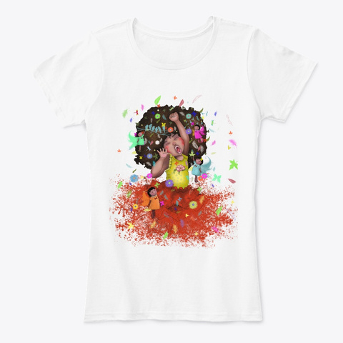 African American Art   Daughter Adorable White T-Shirt Front