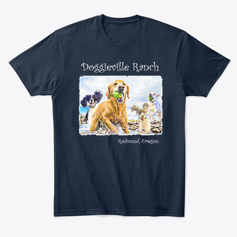 Doggieville Ranch T Shirt #1 New Navy T-Shirt Front