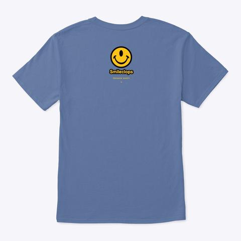 Smileclops™ Eye Love Music Denim Blue T-Shirt Back