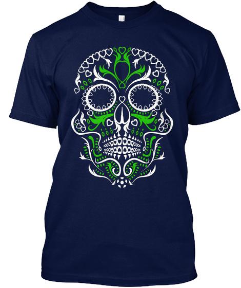 Sugar Skull Shirts Navy T-Shirt Front