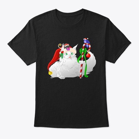 Happy Holidays Black T-Shirt Front