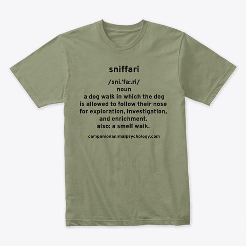 Sniffari  Dictionary Tee Light Olive Camiseta Front