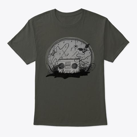 Inky Haunted Radio Smoke Gray T-Shirt Front