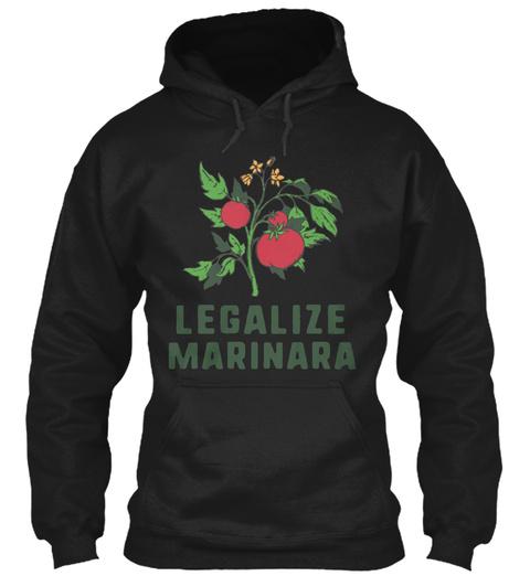 Legalize Marinara Black T-Shirt Front