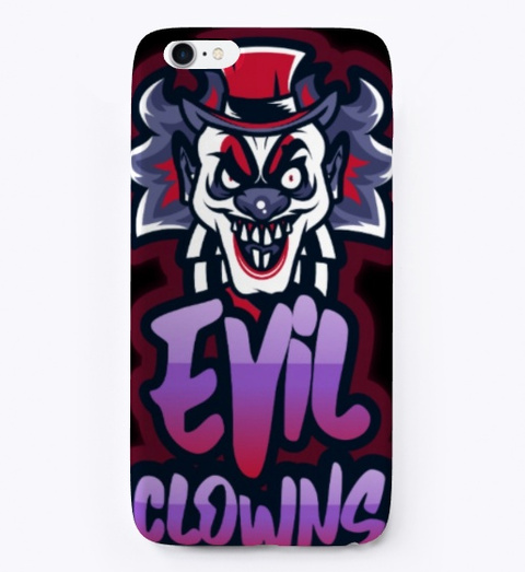 Halloween Creative Scary Evil Clowns  Black T-Shirt Front