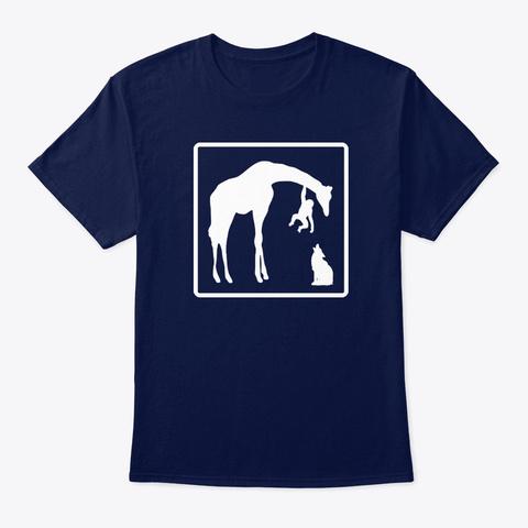 Animals Navy T-Shirt Front