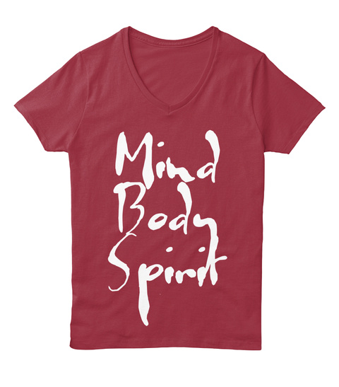 Mind Body Spirit Deep Red  T-Shirt Front