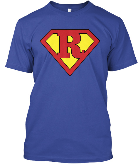 R Deep Royal T-Shirt Front
