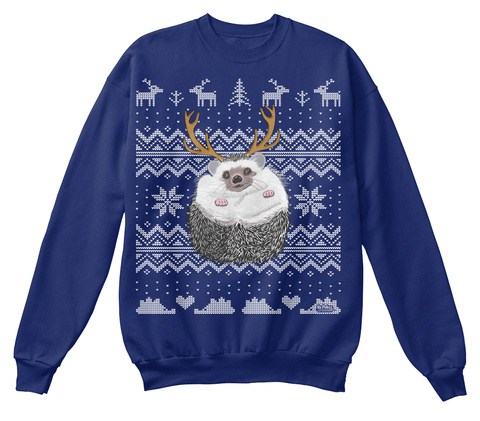 Mr. Pokee Christmas Oxford Navy T-Shirt Front