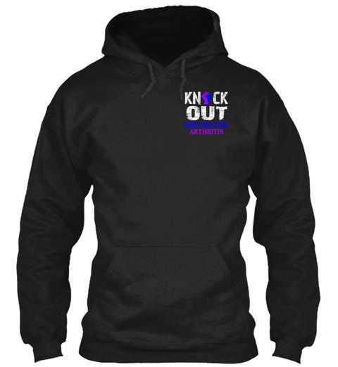 Knock Out Rheumatoid Arthritis Black T-Shirt Front