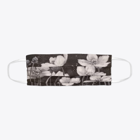 Black And White Poppies Face Mask Standard T-Shirt Flat