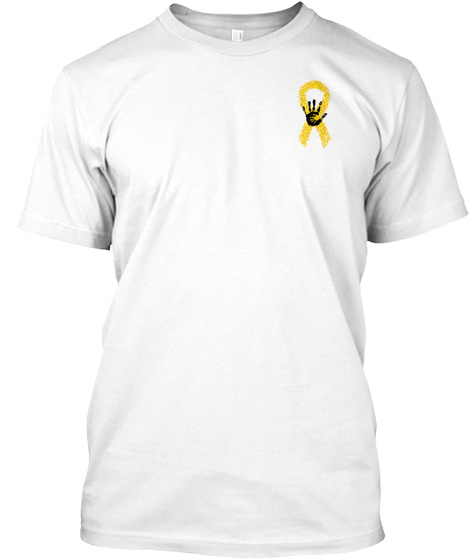 Childhood Cancer Awareness White T-Shirt Front