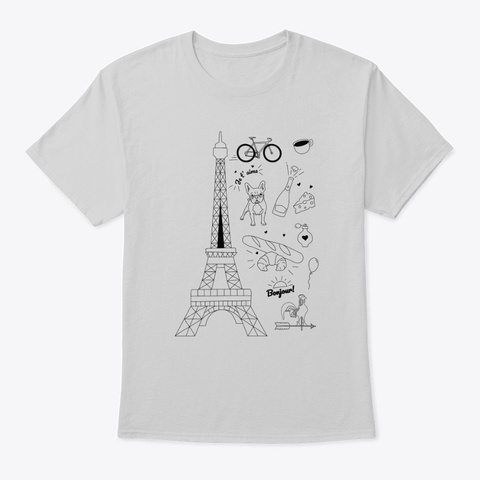 France Light Steel T-Shirt Front