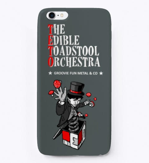 Teto I Phone Case Dark Grey T-Shirt Front