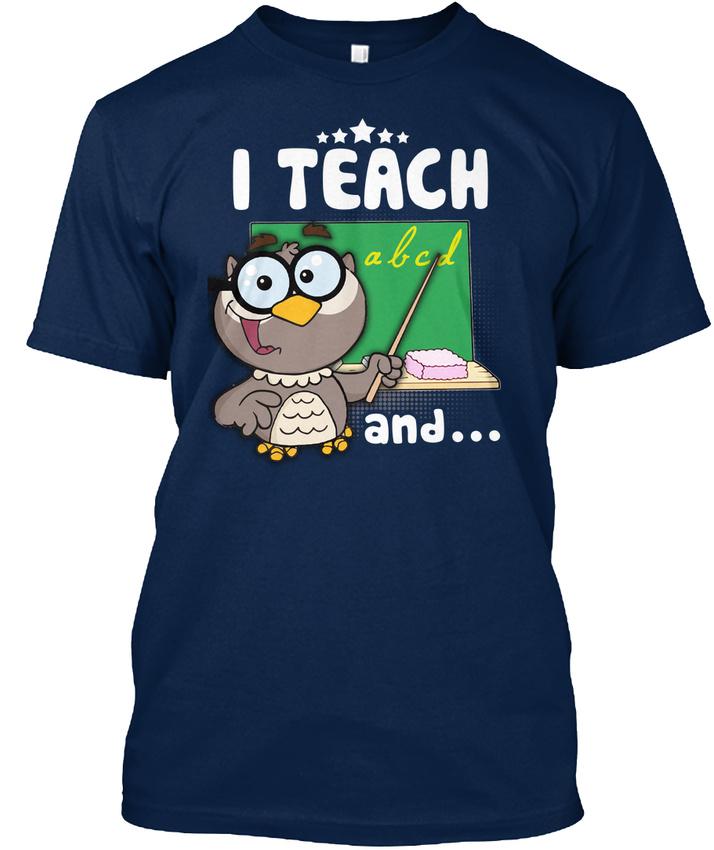 Trendy Teacher Im Watching You !!! I Teach Abcd And Standard Unisex T-shirt