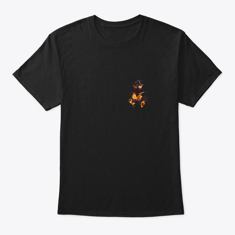 Dog In Your Pocket Rottweiler T Shirt Black T-Shirt Front