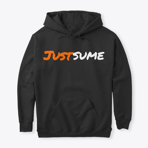 Justsume Founder's Edition Hoodie Black Camiseta Front