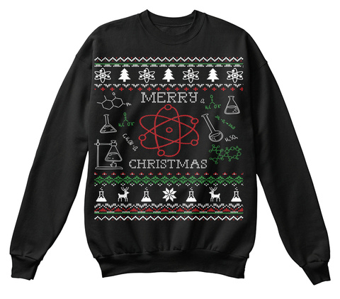 Merry Christmas Jet Black Sweatshirt Front
