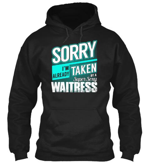 Waitress   Super Sexy Black T-Shirt Front