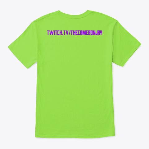 The Cameron Jay Logo Lime T-Shirt Back