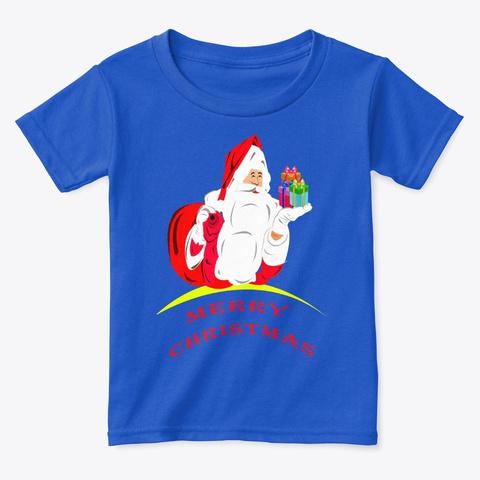 Father Christmas Tees Royal  T-Shirt Front