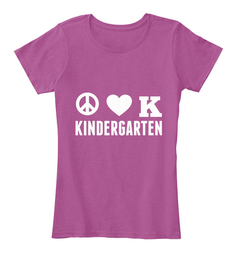 Kindergarten Heathered Pink Raspberry T-Shirt Front