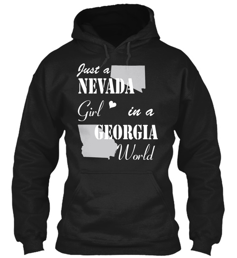 Nevada Girl In A Georgia Black T-Shirt Front