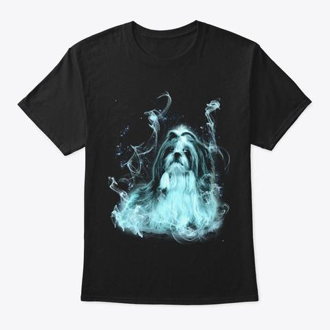 Shih Tzu M Gic Black T-Shirt Front