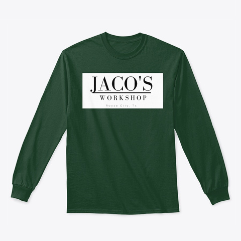 Jaco's Long Sleeve Tee Forest Green T-Shirt Front