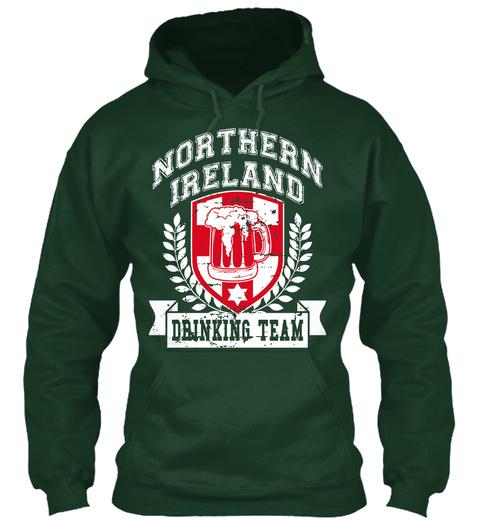 Northern Ireland Drinking Team Forest Green T-Shirt Front