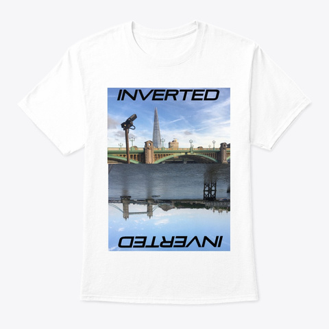 Inverted  White T-Shirt Front