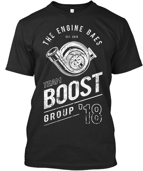 Team Boost Group Black T-Shirt Front