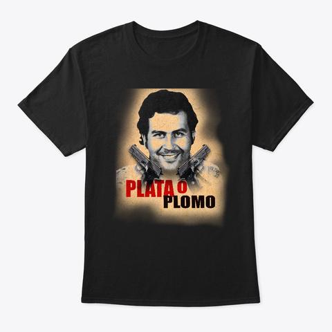 Pablo Escobar Merch!  Black Camiseta Front