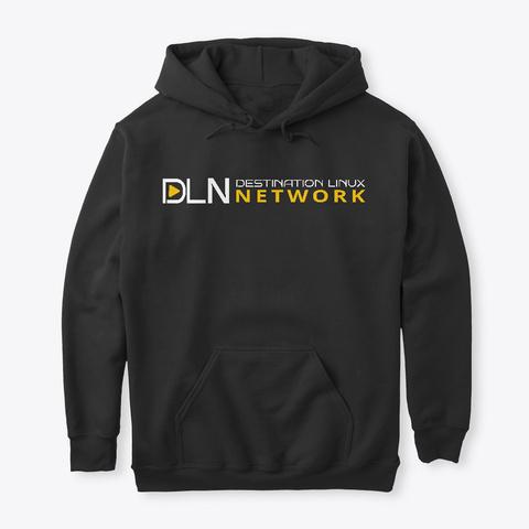 Dln Launch Hoodie   Dark Mode Black T-Shirt Front