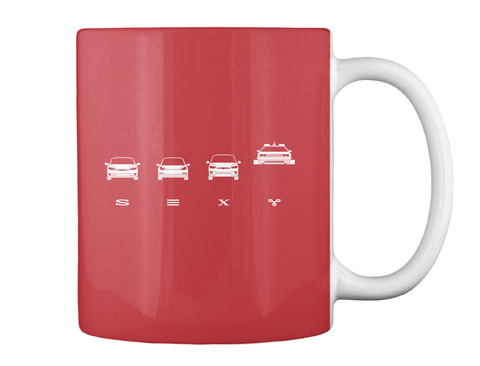 S☰Xy Mug [Int] #Sfsf Bright Red Mug Back