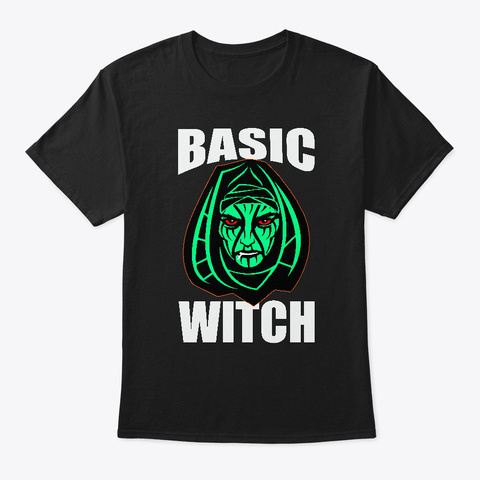 Halloween Basic Witch Black T-Shirt Front